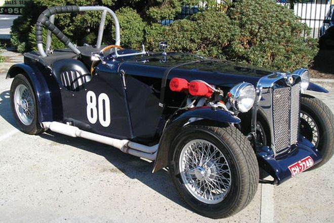 MG TC Special Roadster with Custom built Trailer