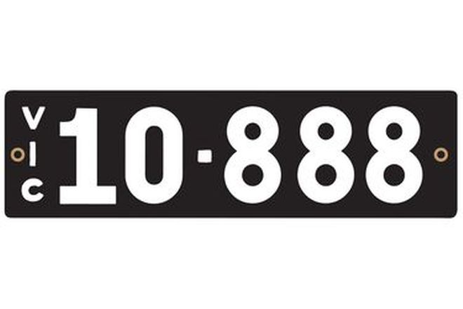 Victorian Heritage Number Plates '10.888'