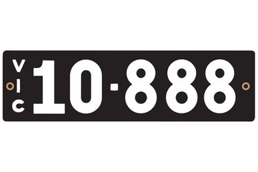 Victorian Heritage Number Plates '10.888'