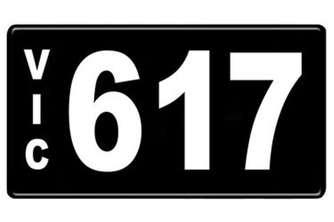Number Plates - Victorian Numerical Number Plates '617'