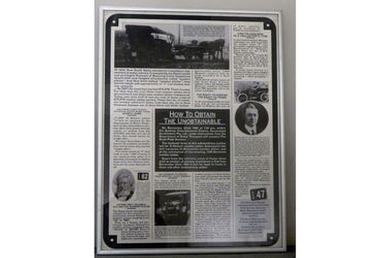 Framed Posters - Two Framed Posters of 1983 Number Plate Auction (78cm x 59cm)