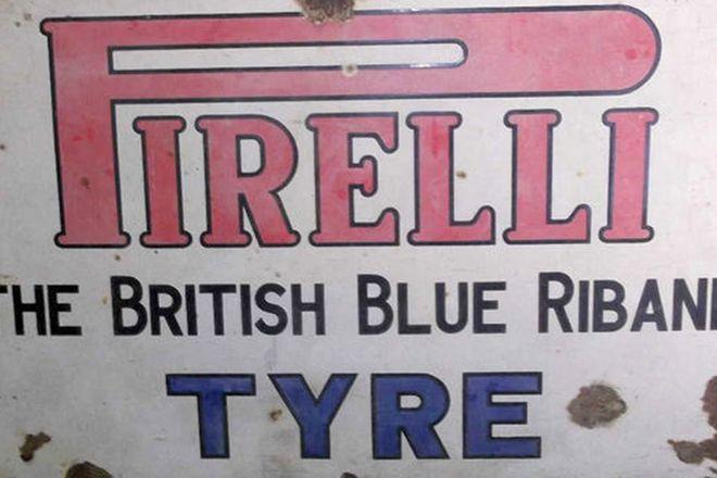 Enamel Sign - Pirelli (70 x 45cm)