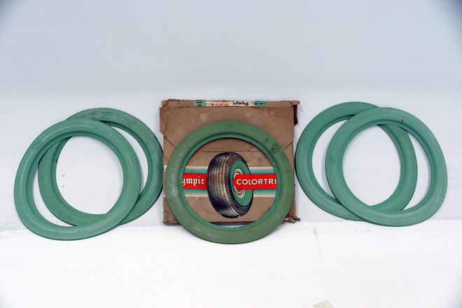 Olympic Tyres Mint Green Walls  c1950