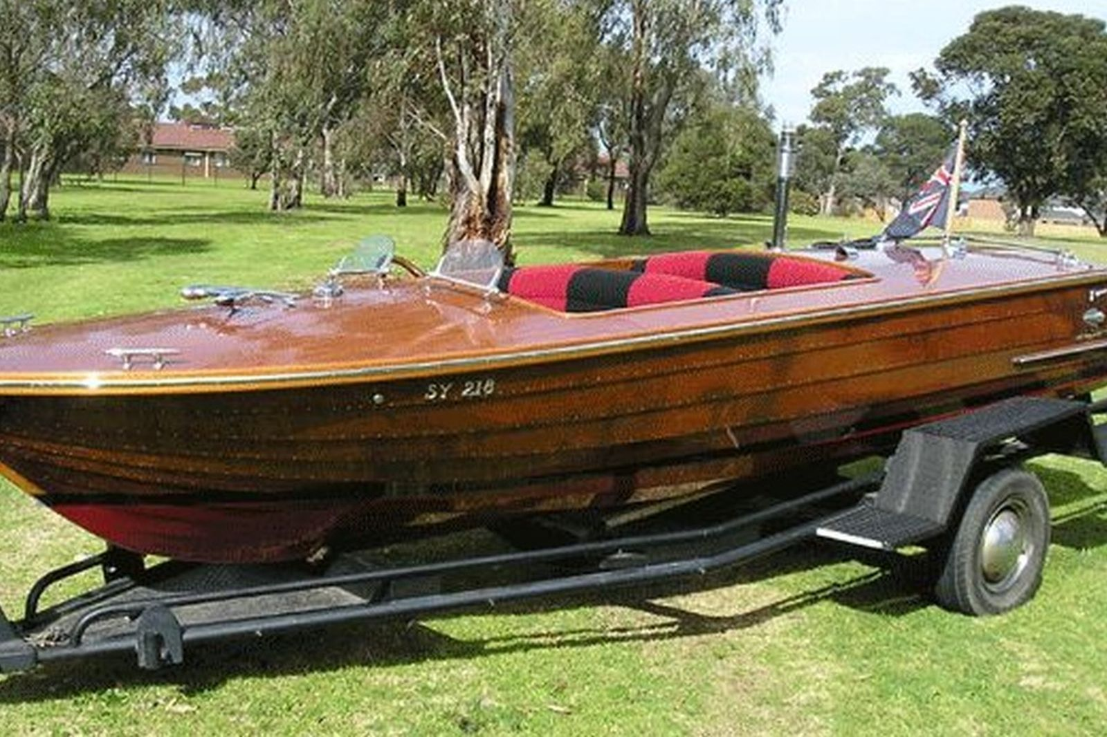 Sold Hammond Runabout Timber Clinker Speed Boat Auctions