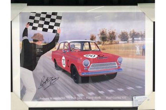 Framed Picture - Bathurst Winning 1963 Cortina
