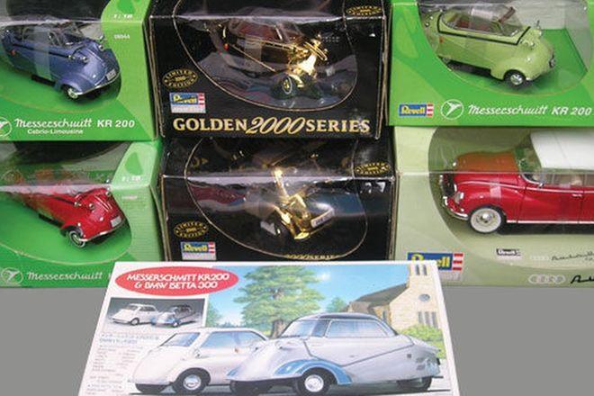 Model Cars - 7 x Micro Cars  - Auto Union, BMW Isetta & Messerschmitt (1:18 Scale)
