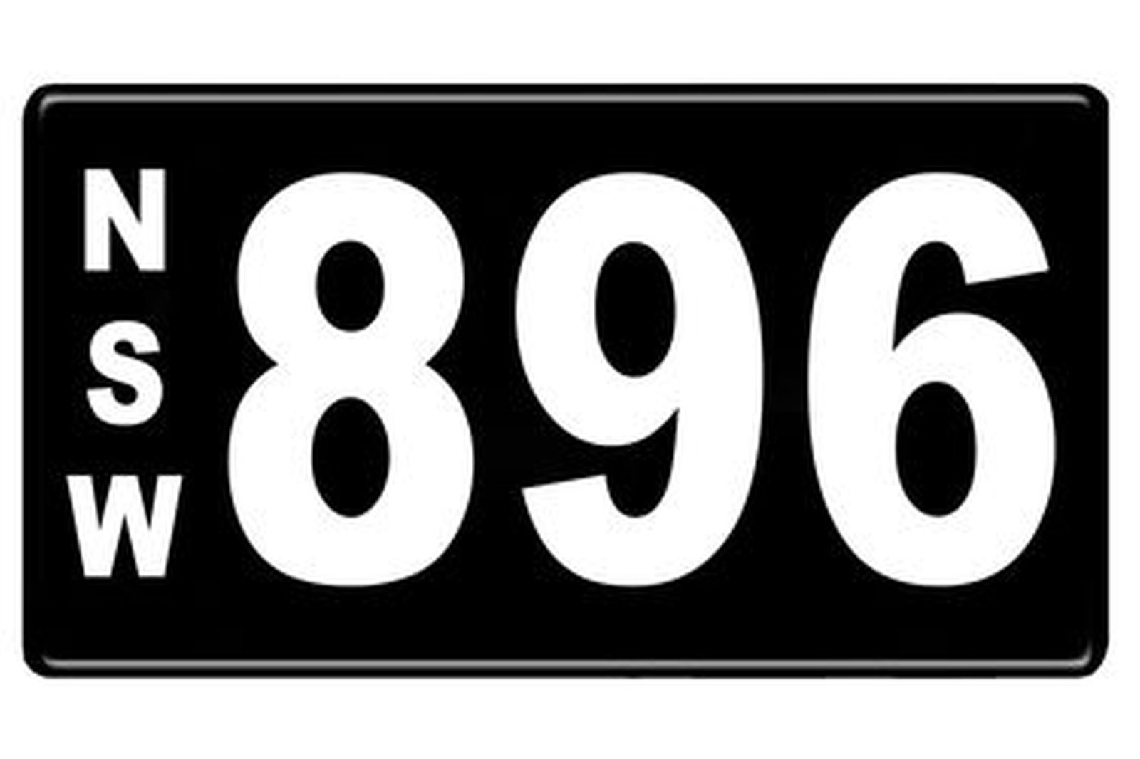Number Plates - NSW Numerical Number Plates '896'