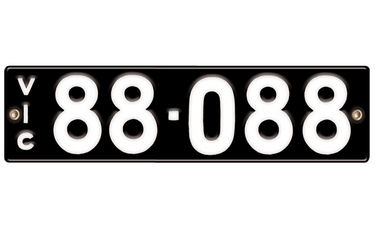Victorian Vitreous Enamel Number Plates - '88-088'