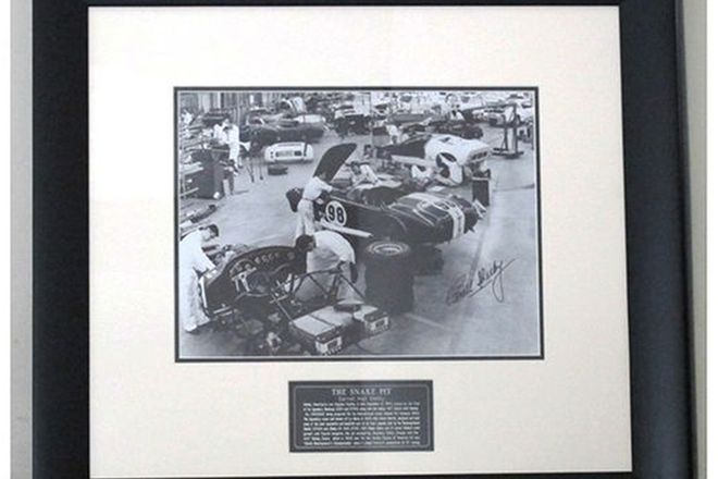 Framed Signed Photo of 'The Snake Pit' signed by Carroll Shelby (71 x 65cm)