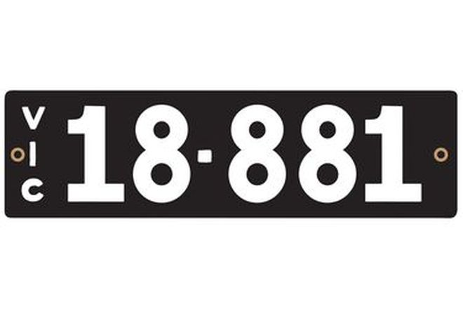 Victorian Heritage Numerical Number Plate - 18.881