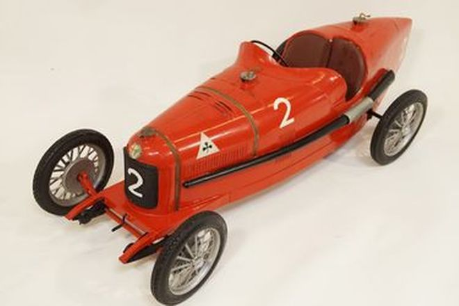 Model Car - Alfa Romeo P2 #2 Tinplate clockwork with Michelin tyres c1920-30s by CIJ