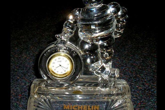 Clock - Michelin Crystal (18cm tall)