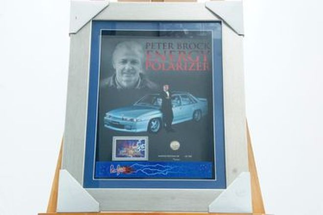 Framed Display - Peter Brock Polarizer (55 x 44cm)