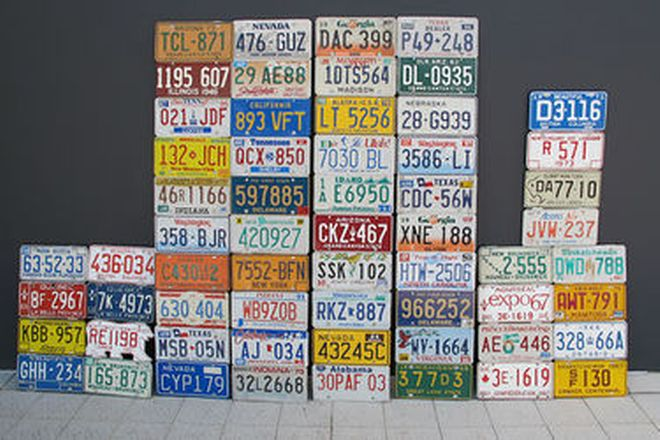 Number Plates x 110 - USA and Canadian Number Plates