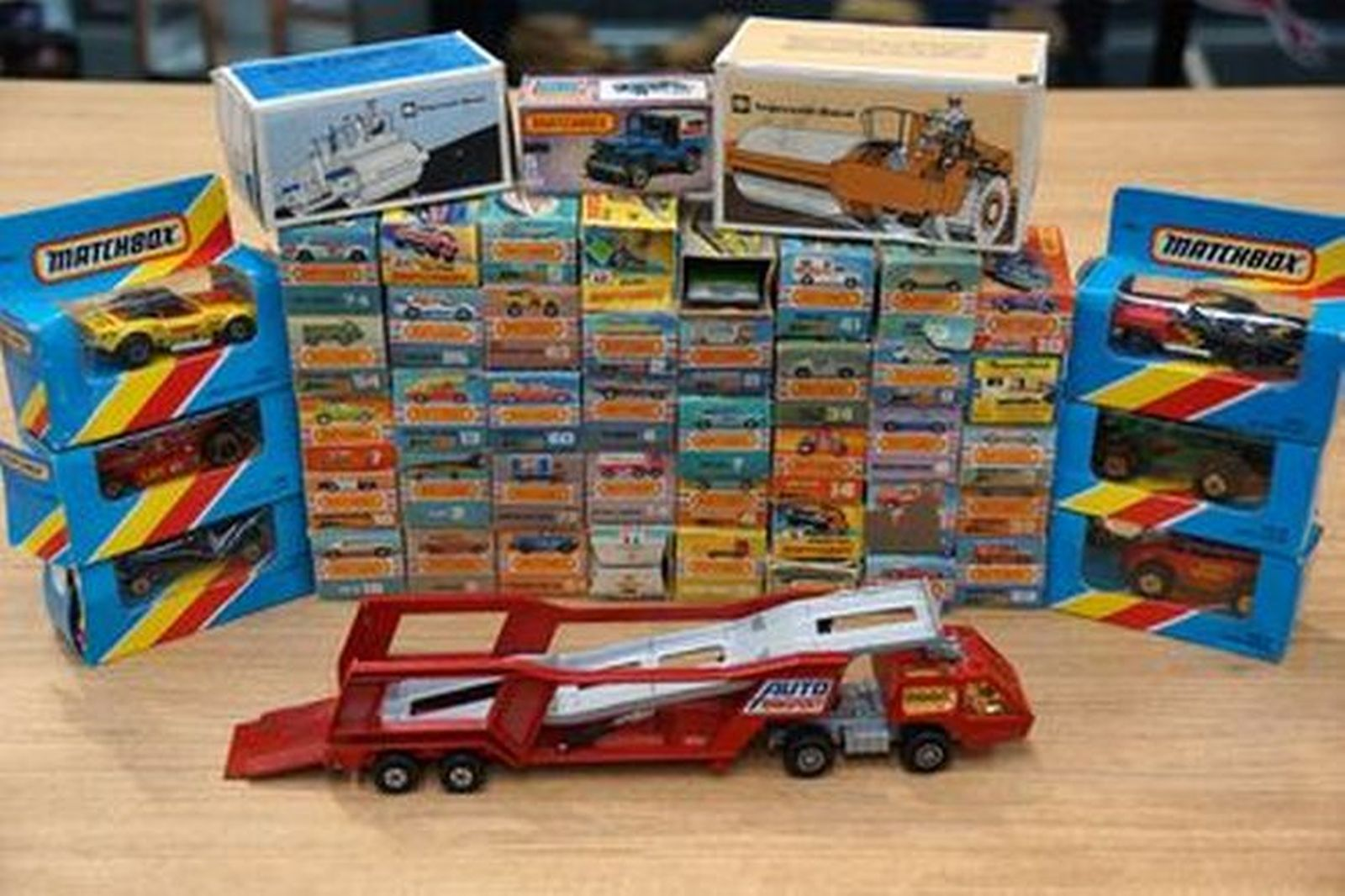 Model Cars - 50 x Matchbox Models - 47 x Cars, 2 x Machinery, 1 x Transporter Truck