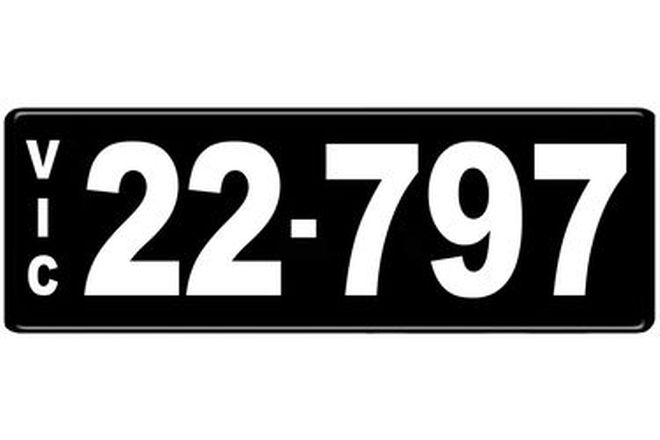 Number Plates - Victorian Numerical Number Plates '22-797'