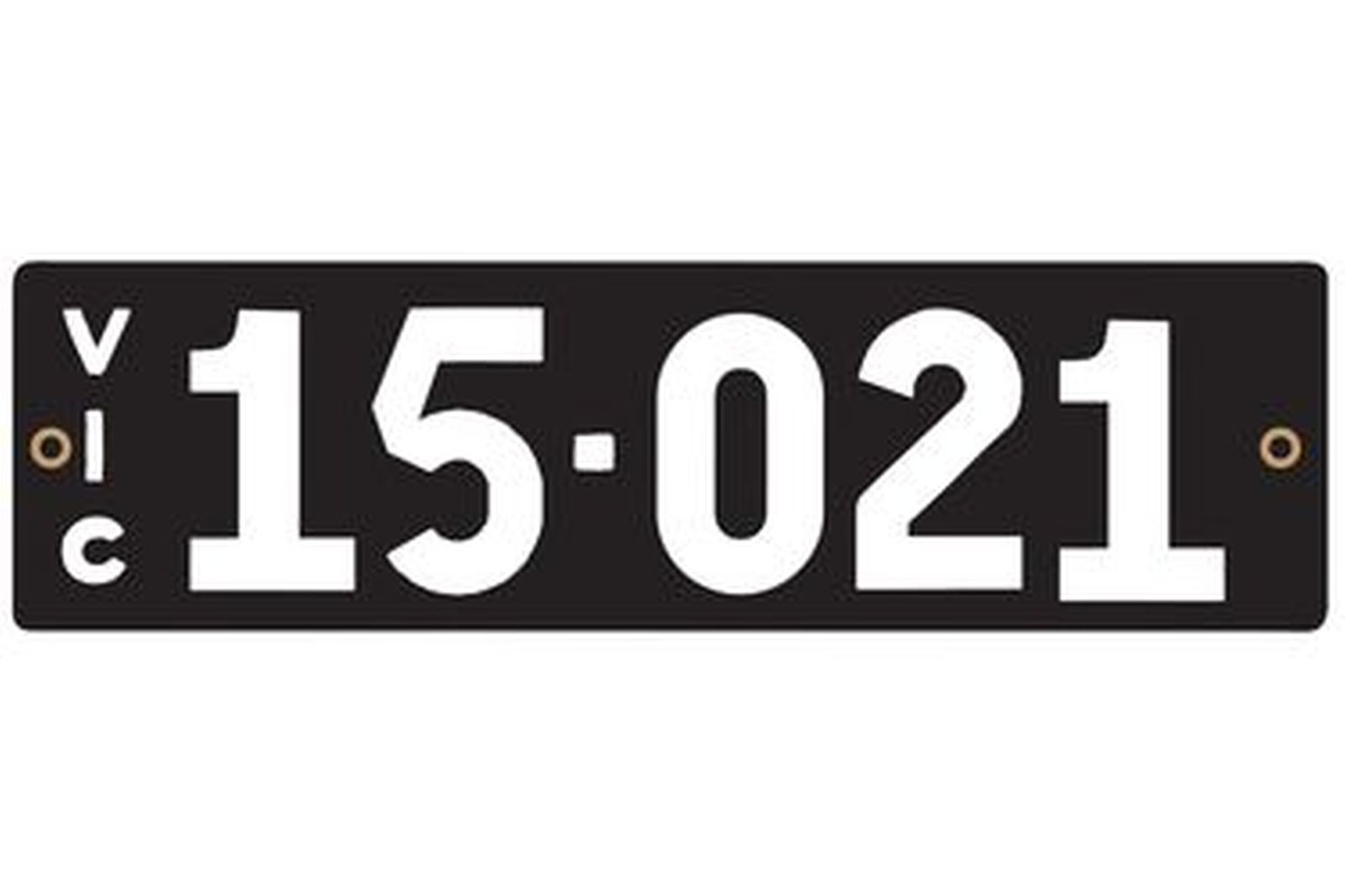 Victorian Heritage Numerical Number Plate - 15.021