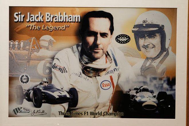 Signed Framed Print - Sir Jack Brabham