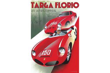 Vinyl Hanging poster - Targa Florio 26