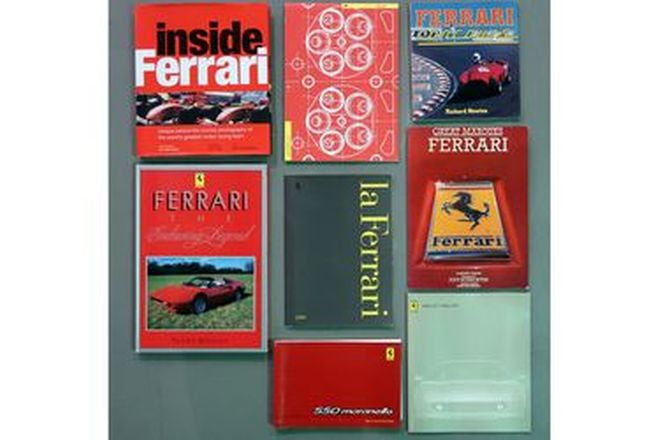 Books - Collection of Ferrari handbooks, brochures & literature