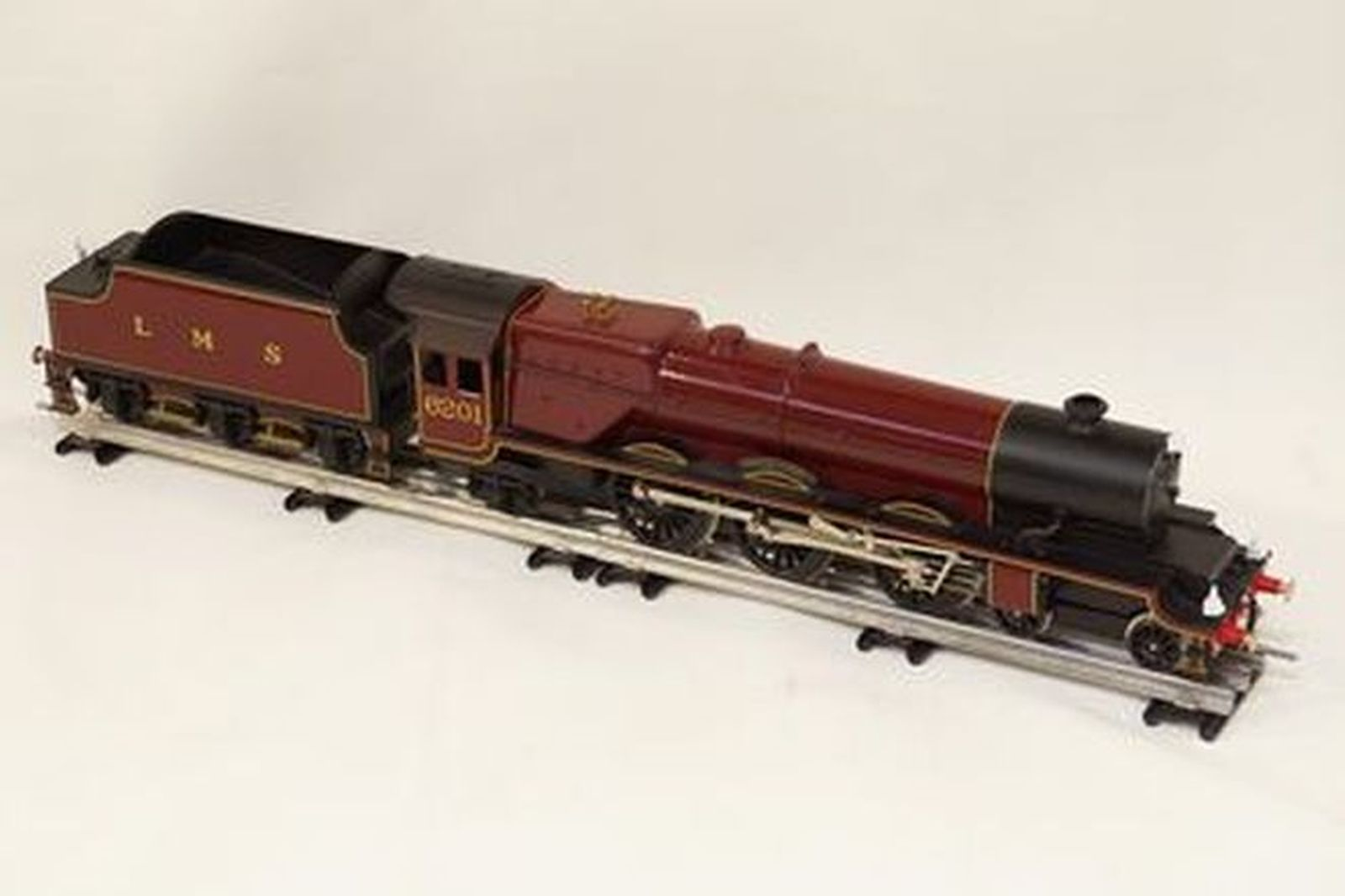Train & Track - Bassett Lowke O Gauge 'Princess Elizabeth' 6201 with LMS Tender & Track