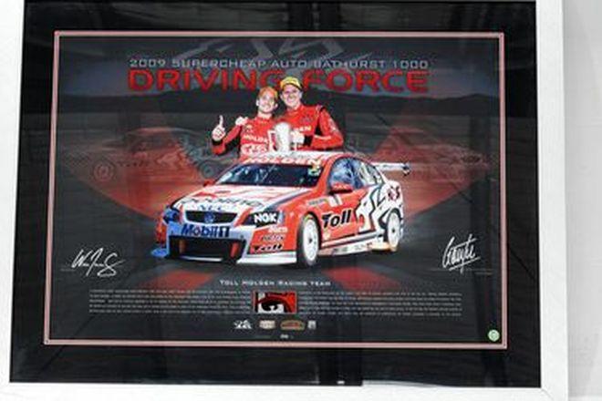 Limited Edition Print - Will Davison / Garth Tander Bathurst 2009 Victory HRT (86 by 66 cm)