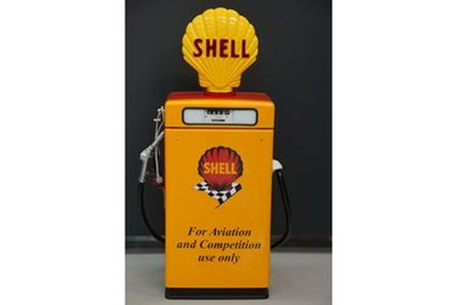 Petrol Pump - Wayne 605 Industrial In Shell Livery with reproduction globe (Restored)