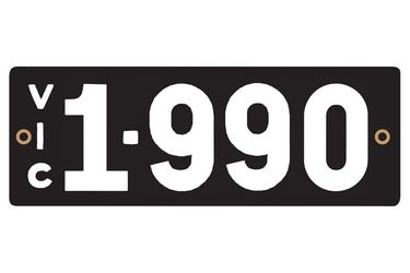 Victorian Heritage Numerical Number Plates - '1.990'