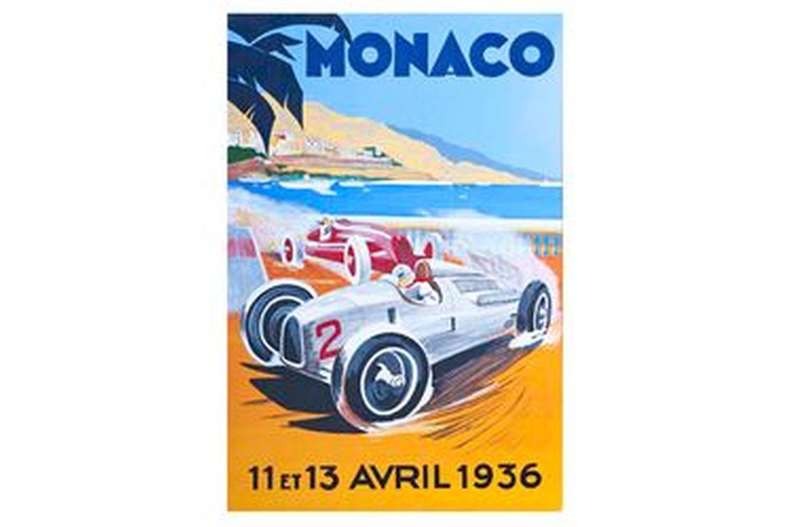 Quality Prints Framed - Monaco 11ET13 Avril 1936