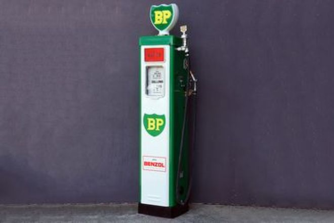 Petrol Pump - c1950s Wayne AS70 in BP Livery with reproduction globe (Restored)