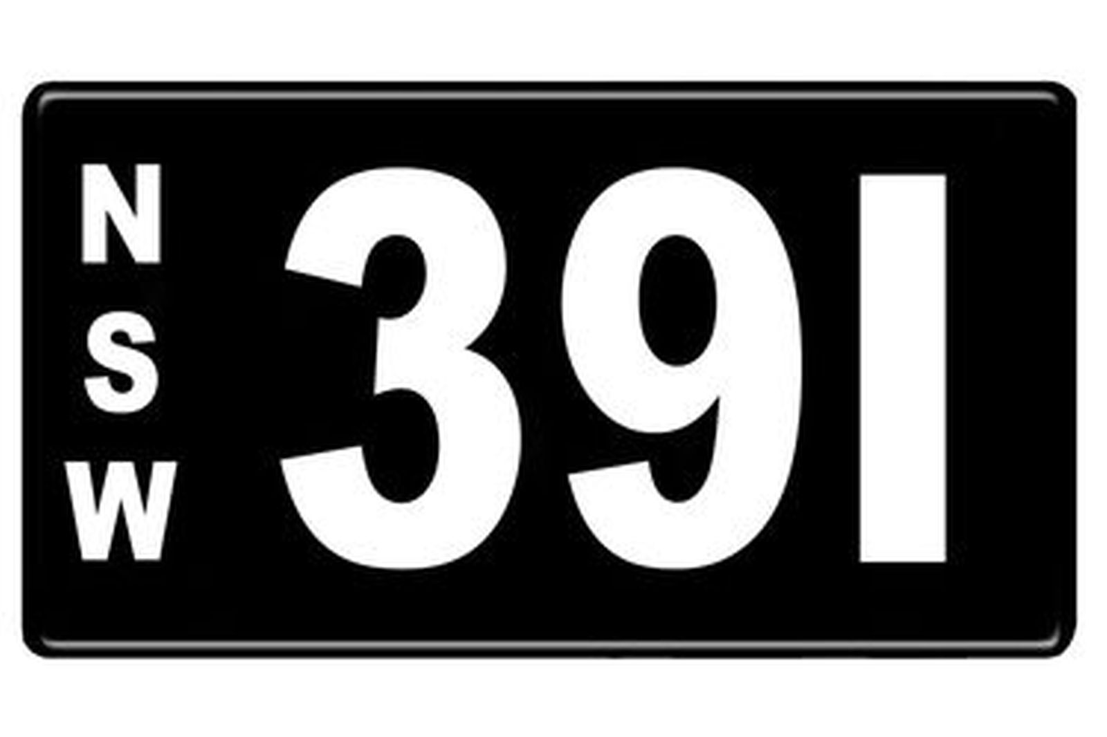 Number Plates - NSW Numerical Number Plates '391'