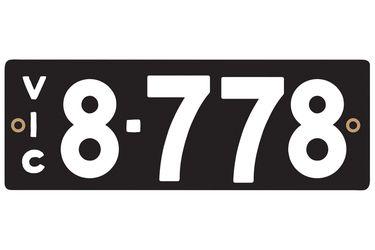 Victorian Heritage Plate '8.778'