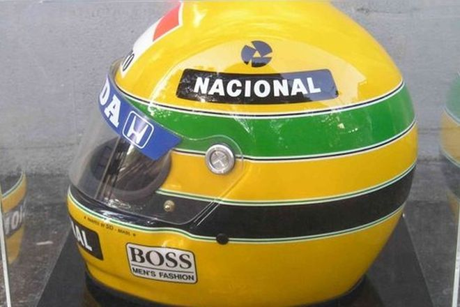 Helmet - 1991 Ayrton Senna Replica, Painted by SID (No.224/1000)