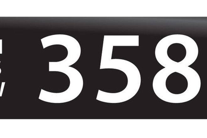 RTA NSW Numerical Number Plates '358'