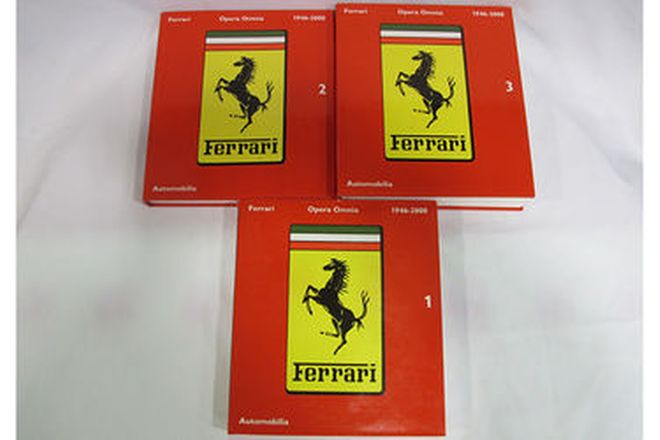 Books - Ferrari Opera Omnia 1946-2000 (Publisher Automobilia) Slipcased 3 volume set