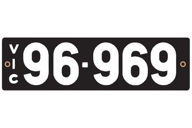 Victorian Heritage Numerical Number Plate - 96.969