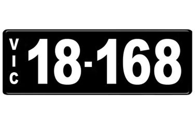 Number Plates - Victorian Numerical Number Plates - 18.168