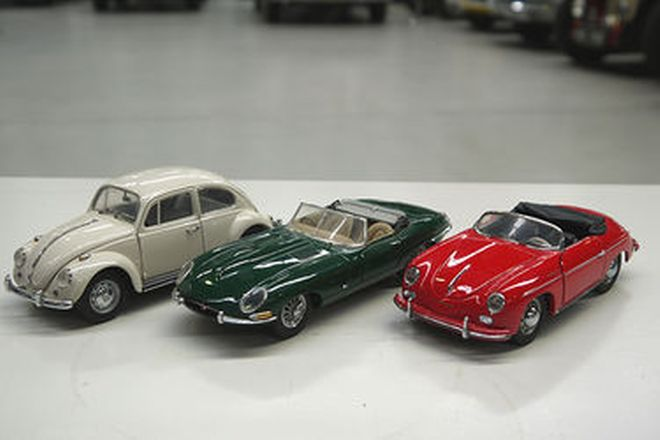 Model Cars x 3 - Collection of European Classic Cars
