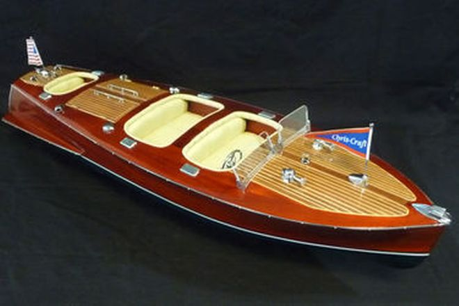 Model Boat - Handmade Chris Craft Triple Cockpit Boat (L70cm)