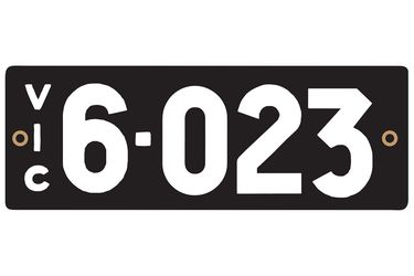 Victorian Heritage Number Plates '6.023'