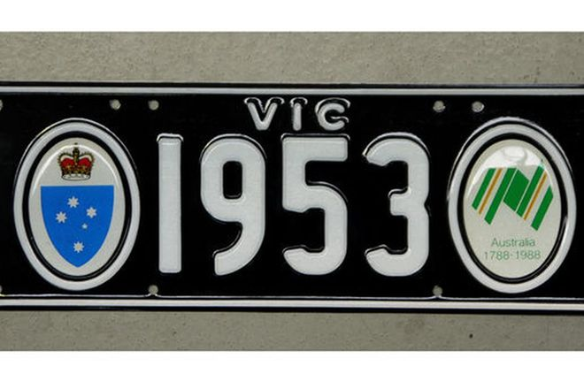 Number Plates - Victorian Bi-Centenial Number Plates - '1953'