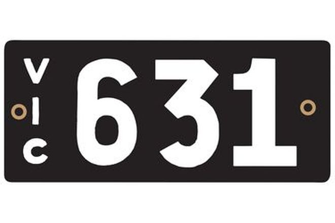 Victorian Heritage Number Plates '631'