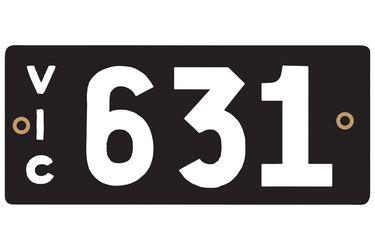 Victorian Heritage Number Plates '631'