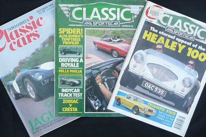 Magazines - Classic & Sports Car Magazines '82-'99 and Thoroughbred & Classic Cars '86-'92