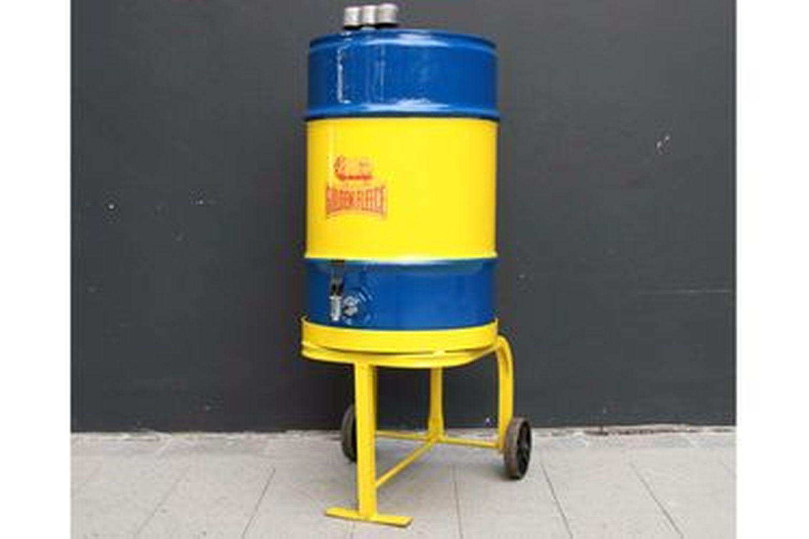 Golden Fleece Oil Drum on Trolley