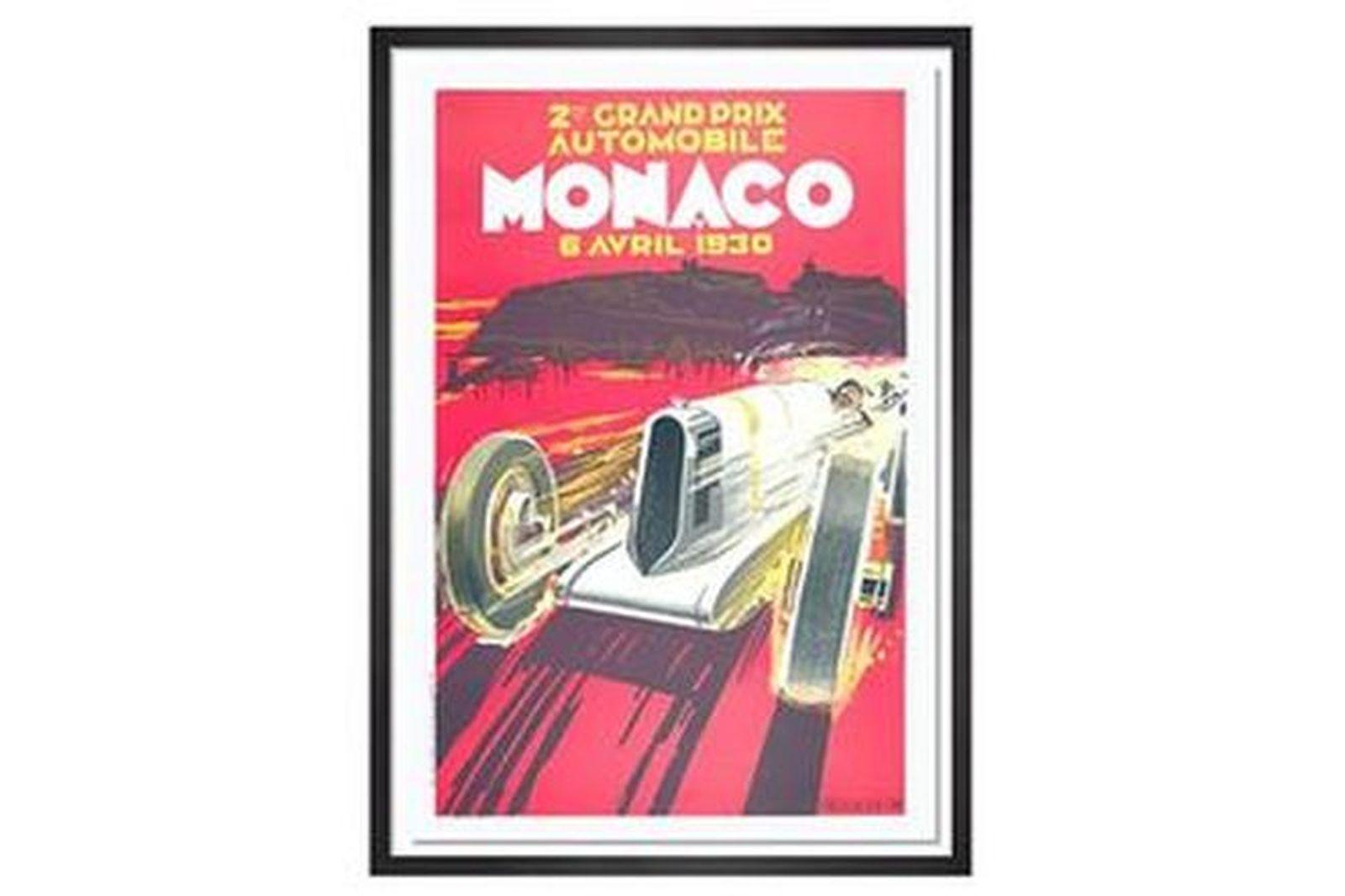 Framed Monaco Print 1930
