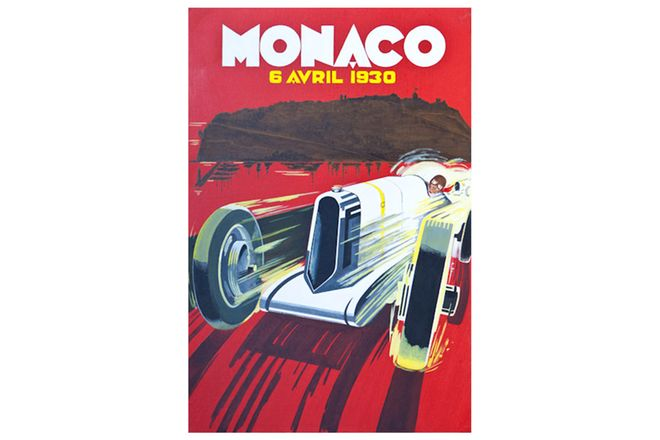 Quality Prints Framed - Monaco 6 Avril 1930