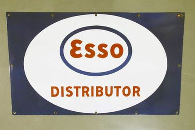 Enamel Sign - ESSO Distributor (91 x 152cm)