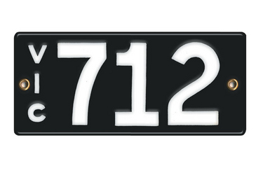 Victorian Vitreous Enamel Number Plates -  '712'