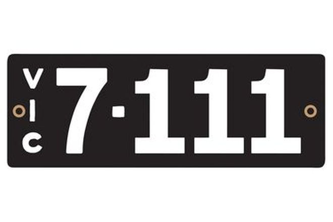 Victorian Heritage Numerical Number Plates '7.111'